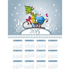 Merry christmas with calendar vector