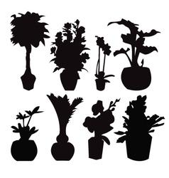 Pot plant 38 vector