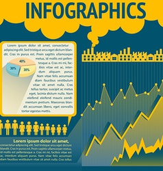 A blue and yellow infochart vector