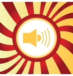 Loudspeaker abstract icon vector