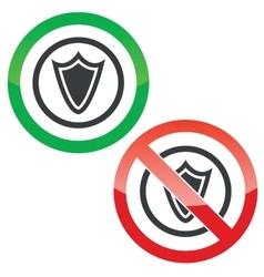 Shield permission signs vector