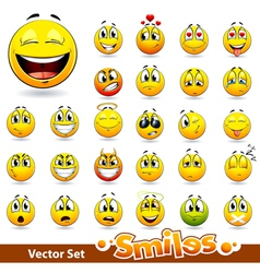 Cute smileballs vector