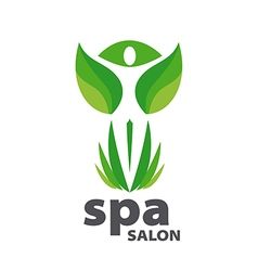 Green logo for spa salon vector