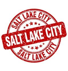 Salt Lake City stamp vector image
