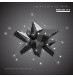 Abstract low poly crystal background low polygon vector