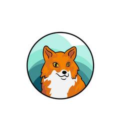 animal hand drawn art cute cartoon style vector image