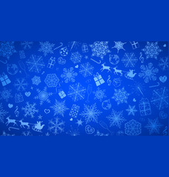 background of snowflakes and christmas symbols vector image vector image