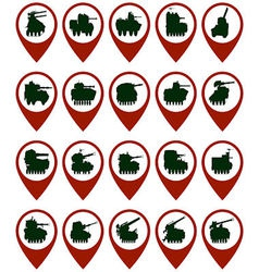 Badges with armored vehicles vector