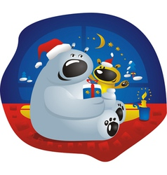 best family holiday vector image
