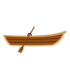 Boat with paddle icon flat style vector