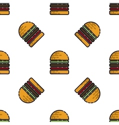 Burger flat pattern vector image vector image