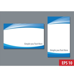 business namecard templates vector image vector image