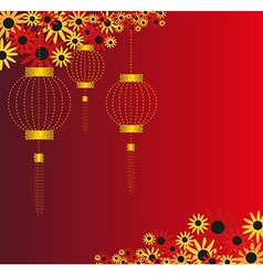 Chinese lantern background vector image