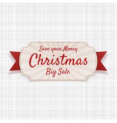 christmas big sale greeting badge vector image