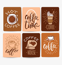 Coffee time hipster vintage stylized lettering vector