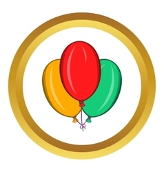 Colorful balloons icon cartoon style vector