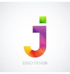 colorful logo letter j vector image