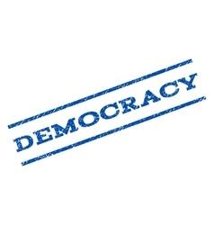 Democracy watermark stamp vector