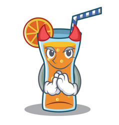 devil cocktail character cartoon style vector image