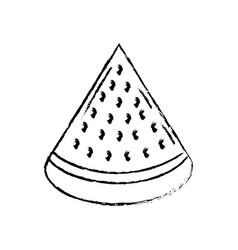 Figure delicios slice watermelon fruit food vector