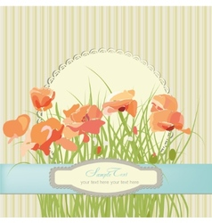 Flowers poppies floral pattern vector