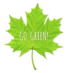 Green leaf go green vector