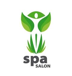 Green logo for Spa salon vector image vector image