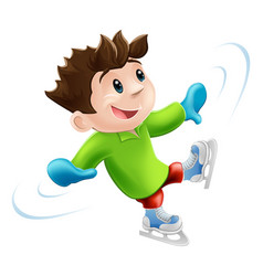 ice skating cartoon vector image vector image
