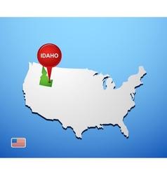 Idaho vector image
