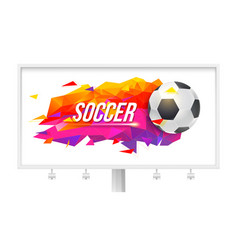 logo for soccer teams and tournaments vector image vector image