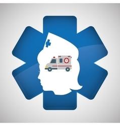 Medical care design nurse icon White background vector image