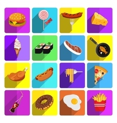 Modern food icon set vector