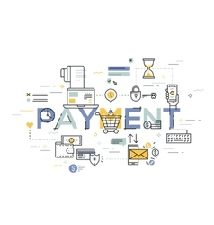 Modern thin line design concept for payment vector image vector image