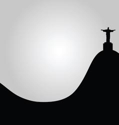 rio de janeiro view of Christ vector image vector image
