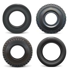 Rubber tires vector