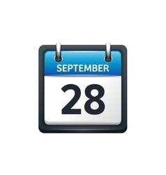September 28 calendar icon vector