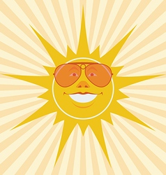 sun laughing vector image vector image