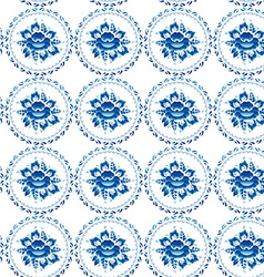 Vintage shabby chic seamless ornament pattern blue vector