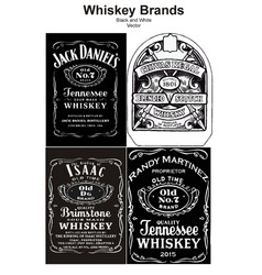 Whiskey brand black and white vector