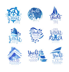 yacht club sailing sports or marine travel vector image