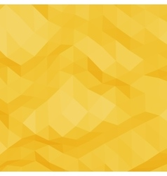 Yellow abstract triangular background vector image vector image