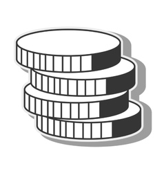 Coins money cash stack icon graphic vector