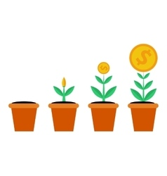 Four stages of financial growth vector