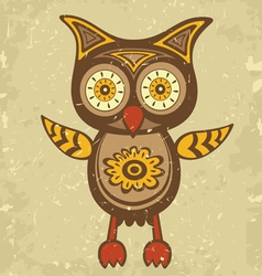 Old style owl vector image