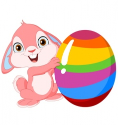 Cute bunny easter vector