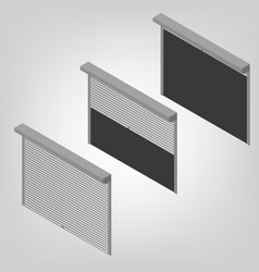 Steel security shutters isometric vector