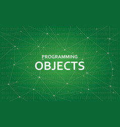 Programming objects concept white vector