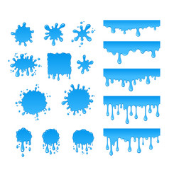 Set of water drops and blots vector
