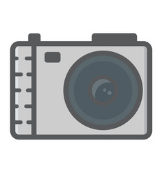Camera colorful line icon photo and capture vector