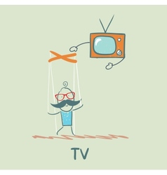 Tv controls the person vector